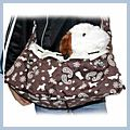 Coffee Figured Dog Poppy Carrier Bag Pet Backpack P12206CF