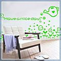 Green Have Nice Day Wall Sticker a J00548GR