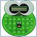 Green Two Way Power Cartoon Style Electronic Calculator J5031GR