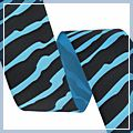 inch Black Zebra Grosgrain Ribbon Yard Blue 1.5 1 J04379