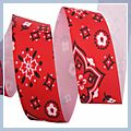 inch Flowers Grosgrain Ribbon Yard Red 1.5 1 J04677