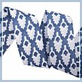 inch Leaves Grosgrain Ribbon Yard Blue 1.5 1 J04676