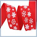 inch Snowflake Grosgrain Ribbon Yard Red 1.5 1 J04681