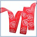 inch Valentine Rose Flower Satin Ribbon Yard 5 8 1 J04682