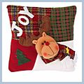 "JOY Letter Deer Decorative Christmas Throw Pillow 13"" J03923"