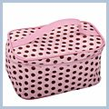 Portable Brown Dot Cosmetic Bag J04693