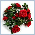 Red Garland Silk Wedding Flowers Roses J9011RE