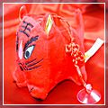 Red Happy New Year Big Face Tiger HK-W1021RE