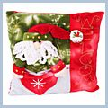"Red Santa Claus Throw Pillow 11"" J03931"