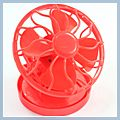Red Solar Sun Power Energy Panel Cooling Cell Fan Clip-on J01516