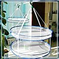 Removable Double Clothes Basket Drying Clothes Basket J3032