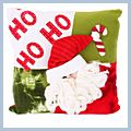 "Santa with Red Hat Throw Pillow 13"" J03920"