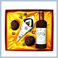 Soft Cotton Red Wine Bottle and Cake Shaped Towel Set for Gift J2126