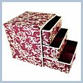 Three Three Pumping Storage Box Bag Red Hand-printed J02534