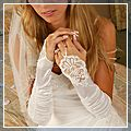 Wedding Dress Fingerless Glove J01077