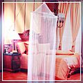 White Jumbo Bed Mosquito Net J6047