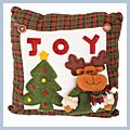 with JOY Letter Cute Deer Throw Pillow Christmas-tree J03929
