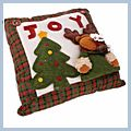 with JOY Letter Cute Deer Throw Pillow Christmas-tree J03929 2