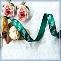 "Yard Christmas Boots Grosgrain Ribbon Green 3 8"" 10 J03671*10"
