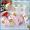 "Yard Two Cute Bear Pattern Grosgrain Ribbon Pink 5 8"" 10 J03607*10"