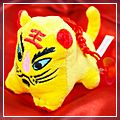 Yellow Happy New Year Big Face Tiger W1021YE
