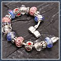 Dream Design Crystal Silver Chain Charm Bracelet S01219