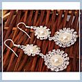 Elegant Crystal Pearls Dangle Earrings & HK-S01618