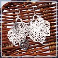 Fashion Sliver Leaf Design Dangle Earrings HK-S01628