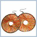 One Pair Brown Madder Fashionable Drop Earrings S00139