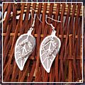 Pop Alloy Mesh Leaf Design Dangle Earrings HK-S01629