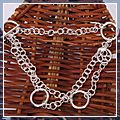 Stylish Sterling Silver Circle Chain Bracelet 19CM 625 S01641