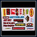 Motorcycle Decal Random 5pcs Q01541