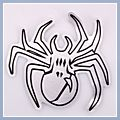 Motorcycle Decal Spider Black 3pcs L-size Q01403