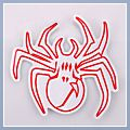 Motorcycle Decal Spider S Red 5pcs Q01388