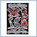 Motorcycle Decal with Cartoon Combination Logo 5pcs Q01402
