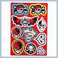 Motorcycle Decal with Pirate and Skull Logo 5pcs 5838B Q01399