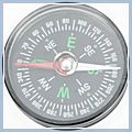 Round Compass for Camping Hiking K00677