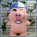 Cartoon Plush Toy Cute Pig Male HK-W1027
