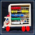 Children Learning Wooden Toy Alphabet Board Car calculation HK-W2026