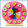 Toy Clock and Cartoon Clock Intellectual Clock Wooden Toys Wooden Clock Hands-on Minds-on HK-W2028