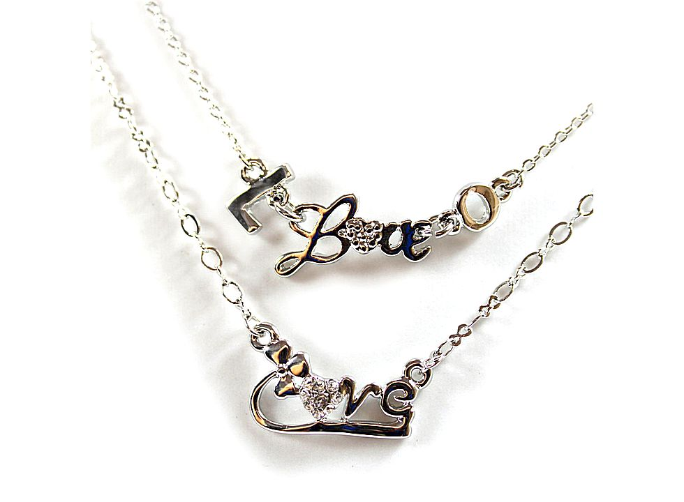 personalized love letter and heart couple necklace hk