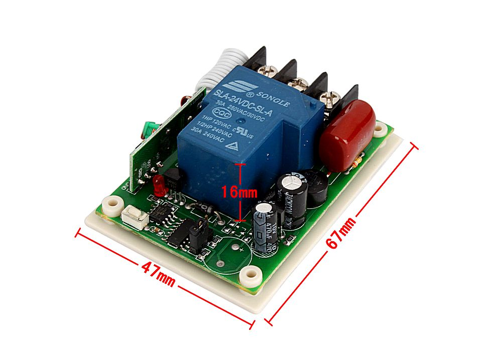 remote control switch receiver and transmitter 220v 30a Low Voltage Motor Start Circuit Low Voltage Warning Circuit